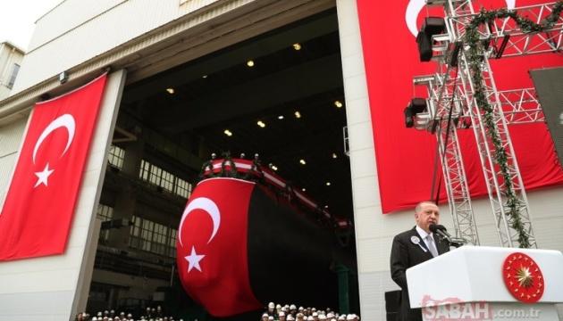 Президент Эрдоган выступает на торжественной церемонии