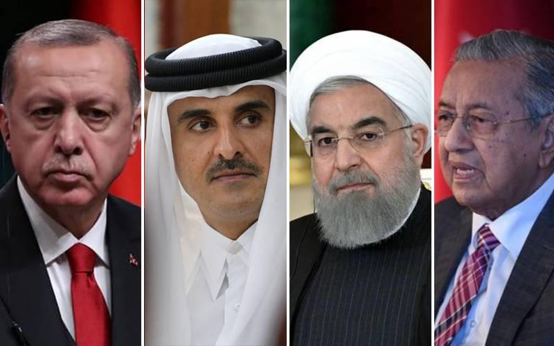Основные участники встречи в Куала-лумпуре: Президент Турции, эмир Катара, президент Ирана, премьер-министр Малайзии