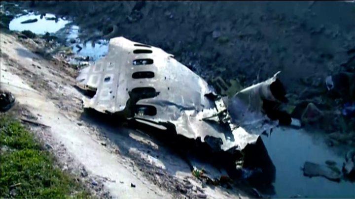 Фрагмент сгоревшего самолета