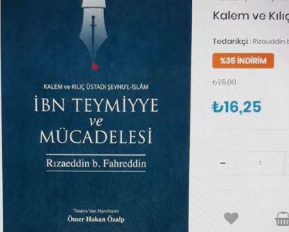 Обложка книги «Ибн Таймийя» на турецком языке