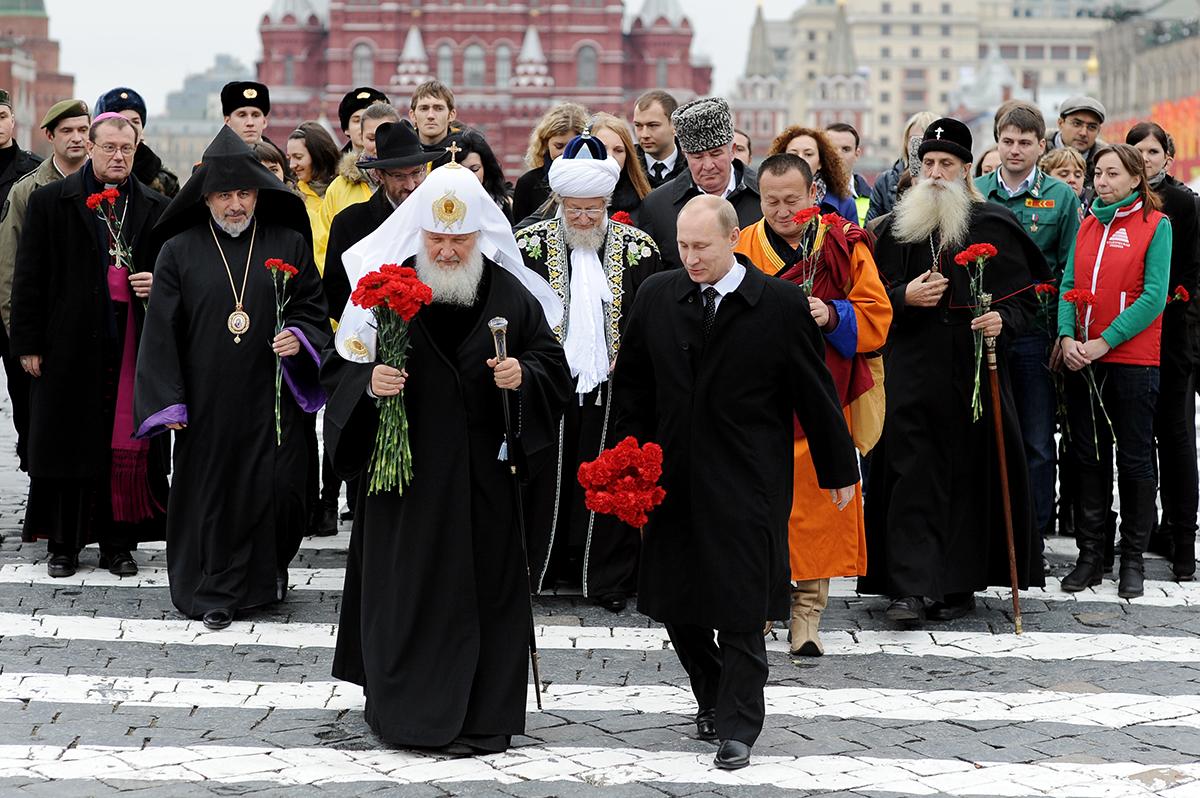 Президент с религиозными деятелями в День народного единства