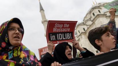 Протестующие в Турции