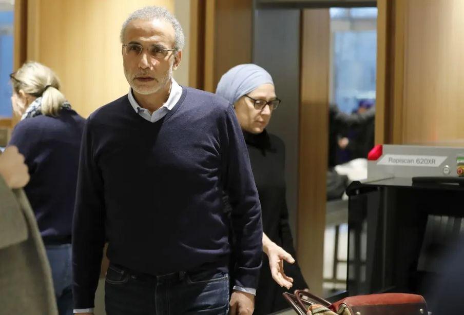 Тарик Рамадан с женой в суде