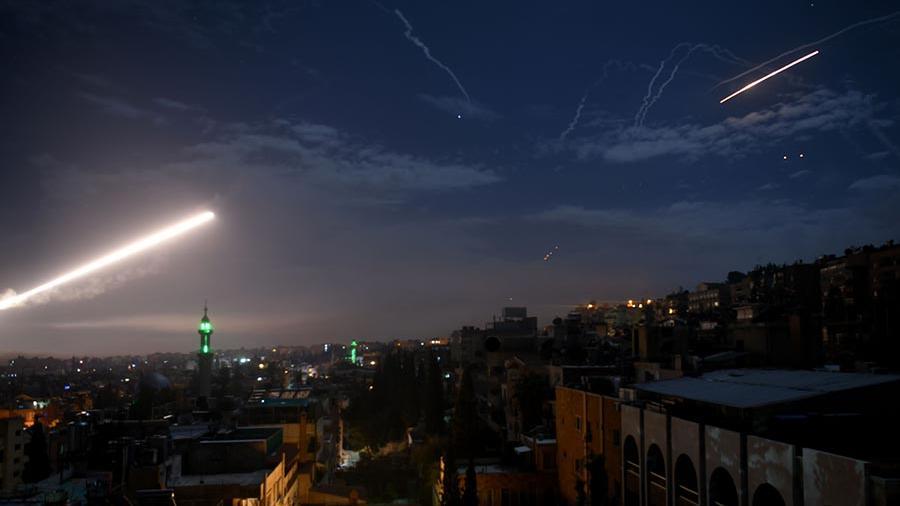 Израильская ракетная атака на Сирию. Архивное фото