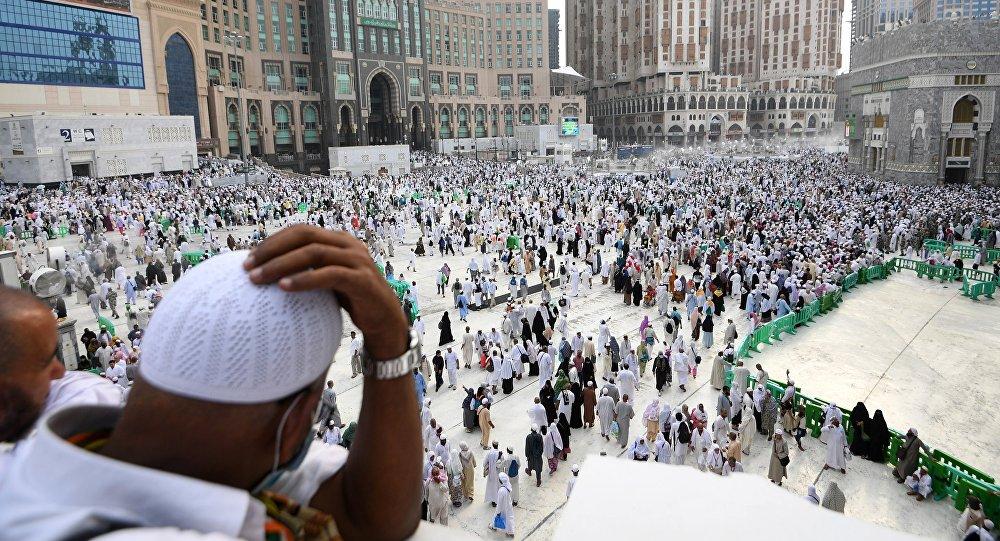 Паломники в Саудовской Аравии