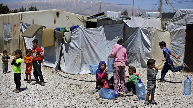 Лагерь для беженцев в Ливане