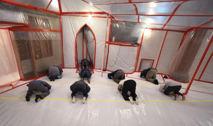 Молельное помещение в мечети Сиракуз