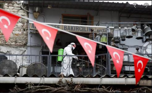 Дезинфекция турецких улиц