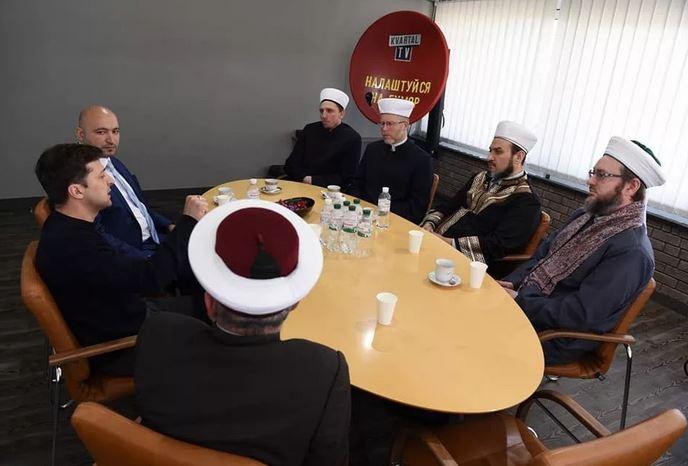 Зеленский с мусульманскими деятелями Украины