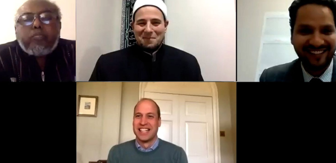Кадр из видеоконференции