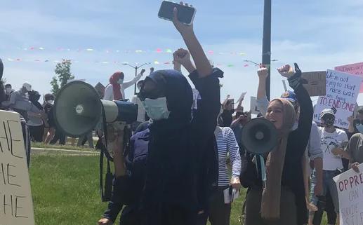 Кадр с акции протеста