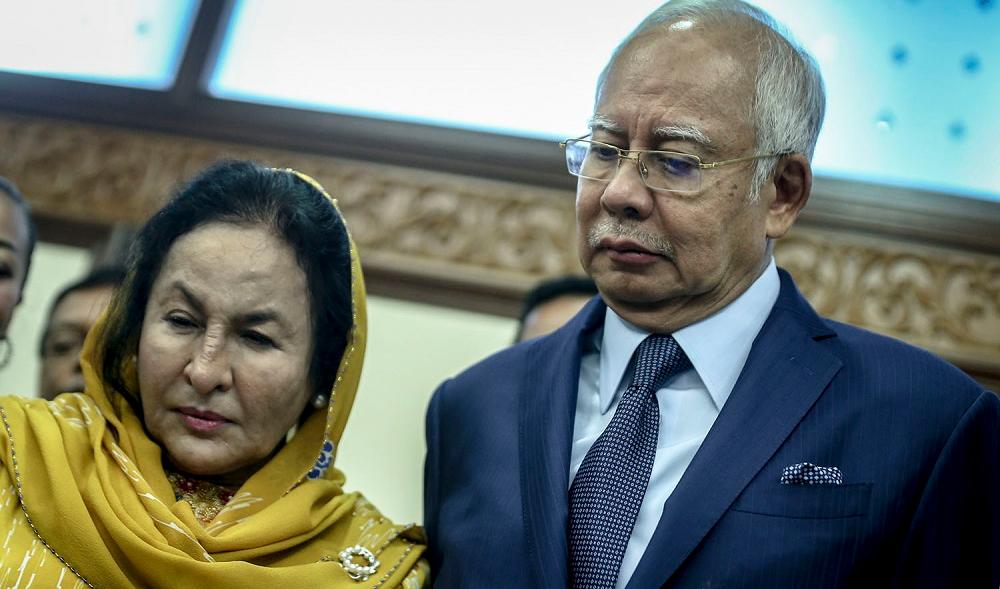 Наджиб Разак с женой