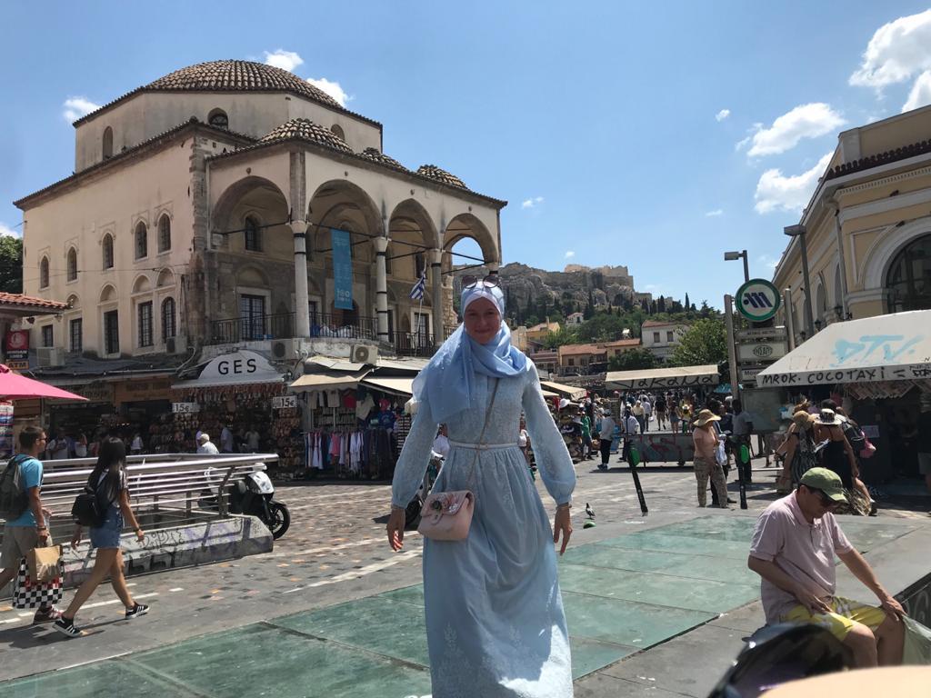 Мечеть 18 века в центре Афин превращенная в музей