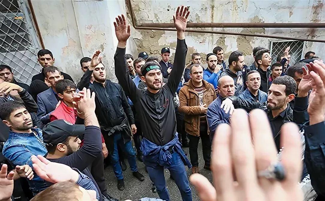 Траурное мероприятие в Азербайджане. Архив