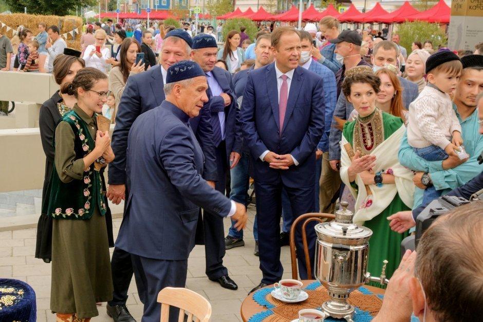 Рустам Минниханов на одном из мероприятий, приуроченных к празднованию 100-летия ТАССР (фото «Реальное время»)