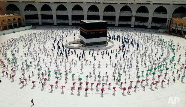 В хадже смогли принять участие лишь несколько тысяч человек вместо традиционных 2,5 миллионов