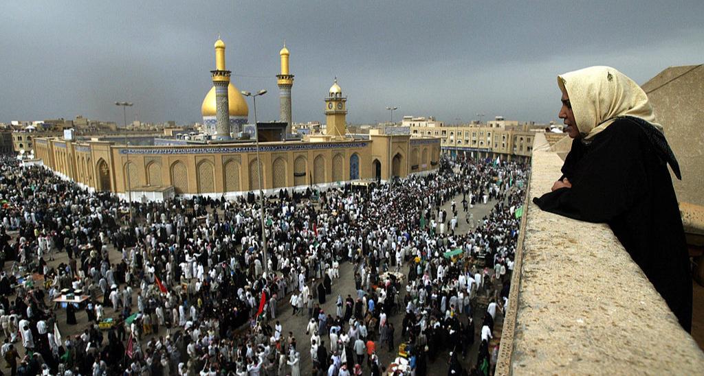 Мечеть в Кербеле до пандемии COVID-19