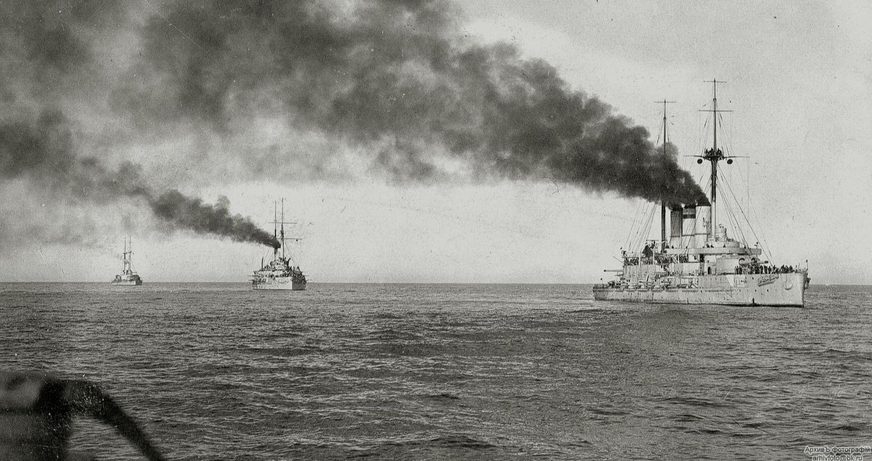 19 век. Корабли русской эскадры