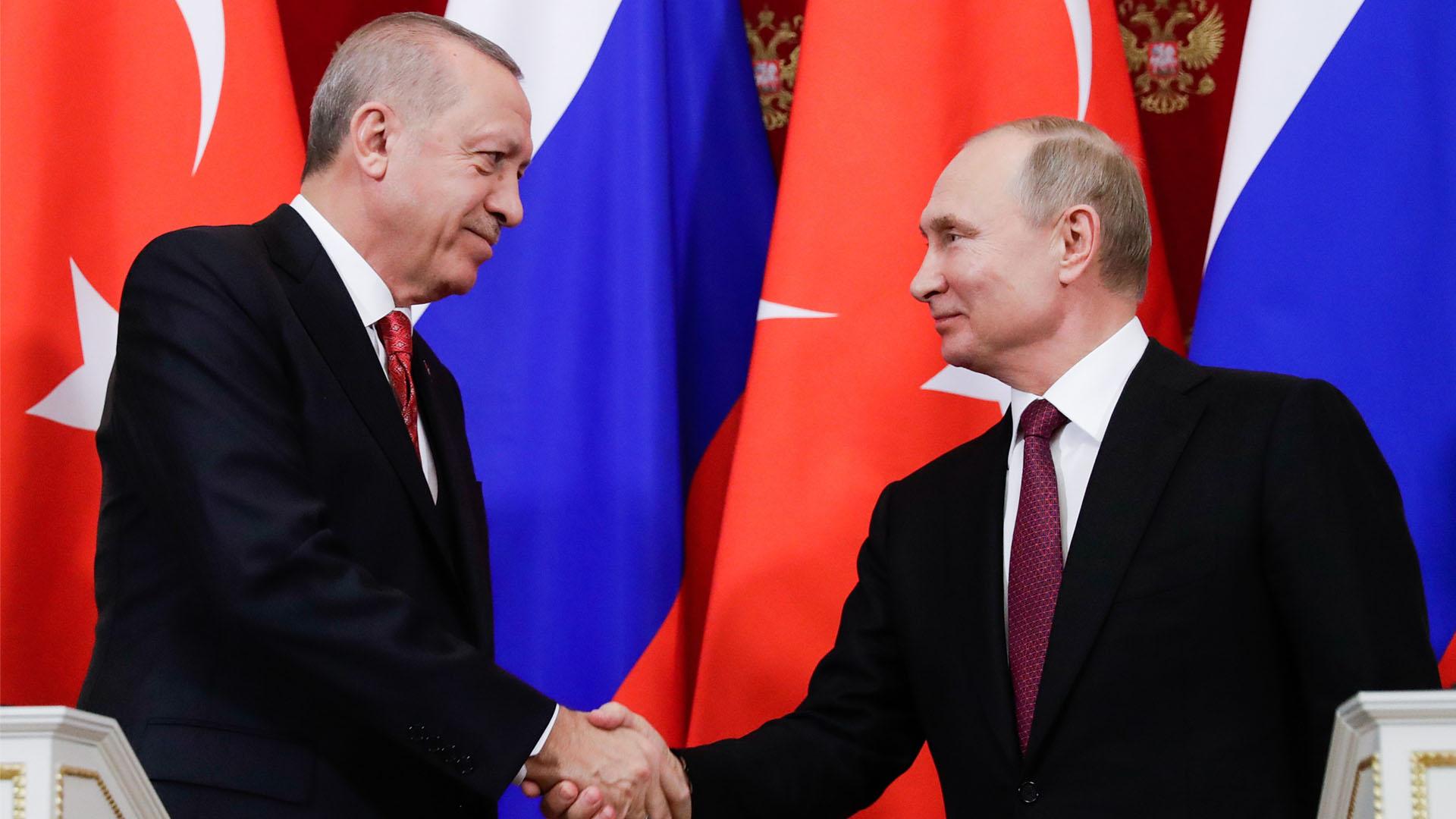 Президенты РФ и Турции