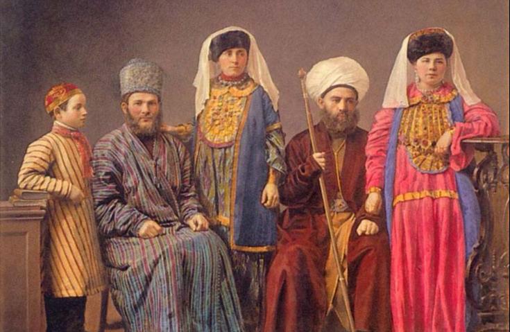 Семья нижегородских татар