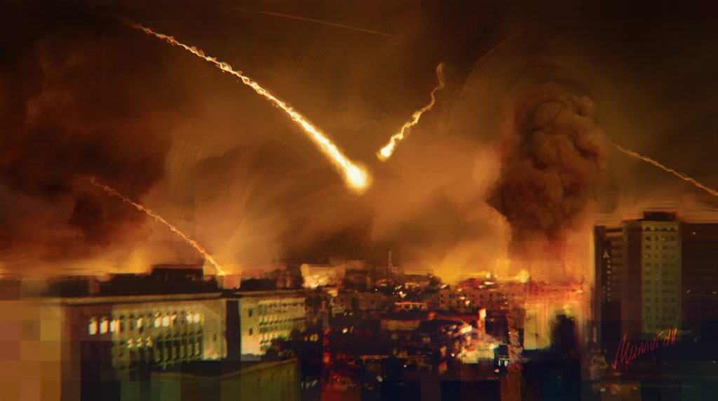 Обстрел Сирии (архивное фото)
