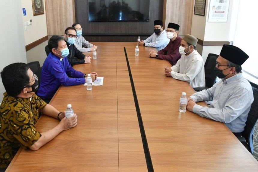 Кадр с встречи религиозных лидеров