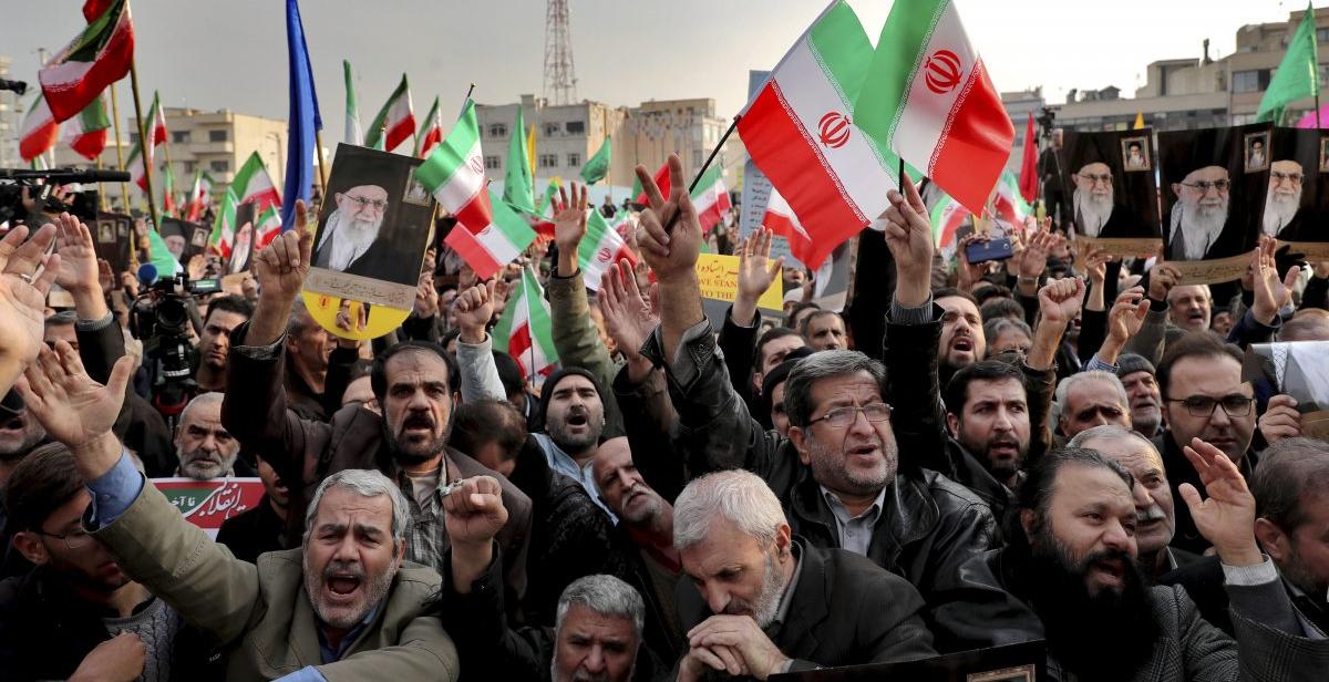 Акция сторонников властей Ирана