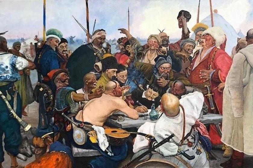 Илья Репин «Запорожцы пишут письмо турецкому султану»