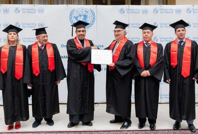 Вручение награды Аль-Исе на церемонии в европейской штаб-квартире ООН