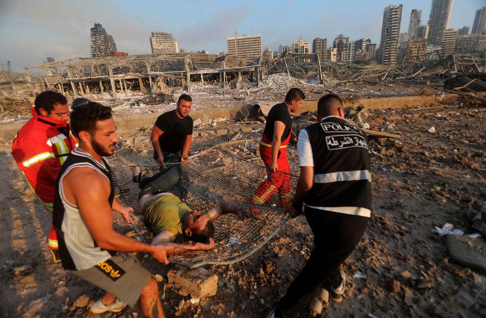 Последствия взрыва в бейрутском порту