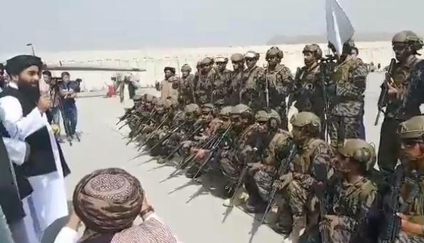 Элитный батальон «Бадри» в аэропорту Кабула