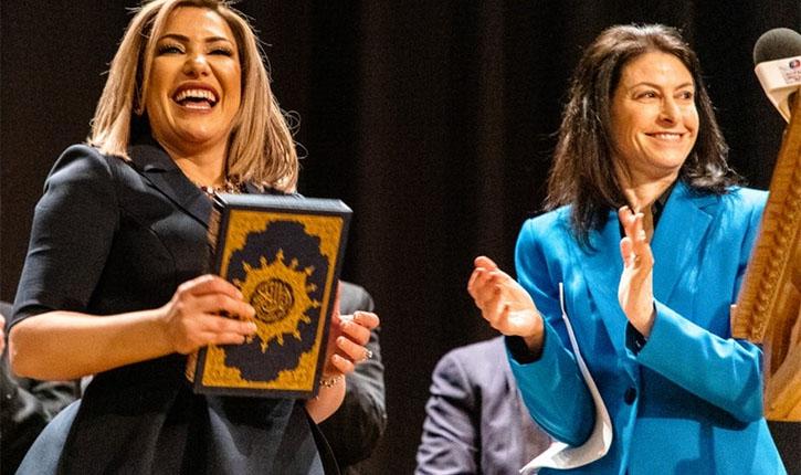 Фадва Хаммуд приносит присягу на Коране